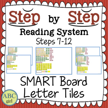 Reading System Steps 7-12 SMART Board Letter Tile Sound Cards