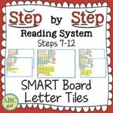 Steps 7-12 Aligned SMARTboard Letter Tiles (Sound Card Display)