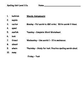 Phonics Based Spelling Packets Level 3 - Bundle - 9 Spelling Units