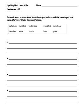 Phonics Based Spelling Packet Level 3.5b