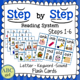 Reading System Steps 1-6 Letter Keyword Sound Flash Cards