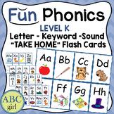 Fundationally FUN PHONICS & Reading System  Letter Keyword Sound Flash Cards