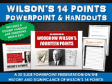 Wilson's 14 Points - PowerPoint with Student Handout and Questions