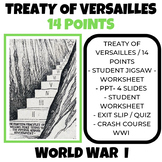 Wilson's 14 Points and Treaty of Versailles Jigsaw Activit