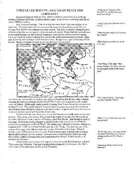 Wilson's Fourteen Points v. Versailles Treaty: A Programmed Reading Packet