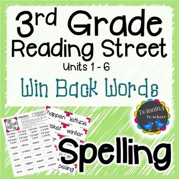 Win Back Words - 3rd Grade Reading Street Spelling Games U