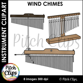 Wind Chimes Clipart (Clip art) - Commercial Use, SMART OK!  Orchestra/Classroom