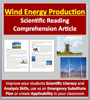 Wind Energy Production - Renewable Energy - Science Reading Article