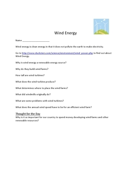 Wind Energy using Ipads