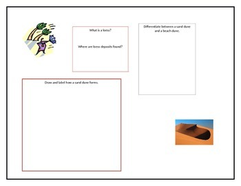 Wind Erosion and Soil Conservation Graphic Organizers