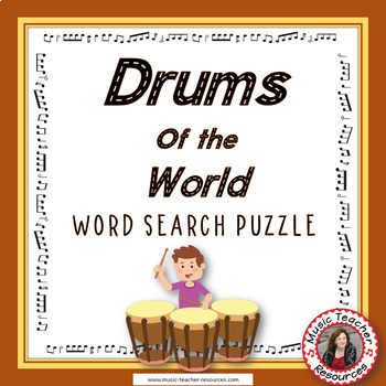 Music Word Search: Drums of the World Word Search: Music Instruments