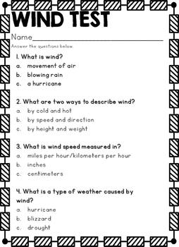 Wind Mini Unit 2nd Grade