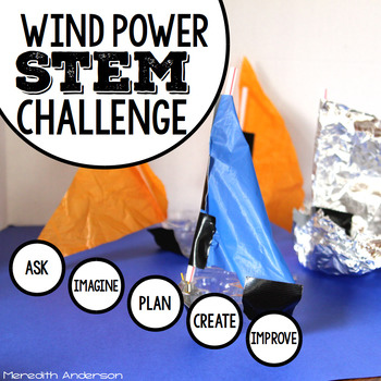 Wind Power Sailboat STEM Challenge for Sping