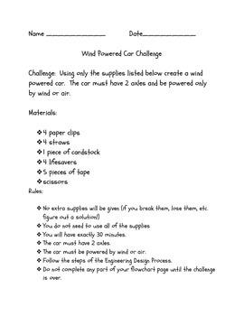 Wind Powered Car STEM Challenge