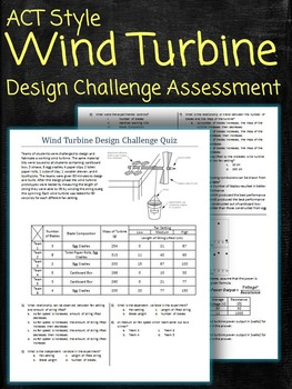 Wind Turbine Design Challenge Quiz Assessment