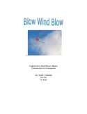 Wind Unit Plan for Kindergarten