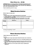 Wind, Water, and Ice Erosion Experiments