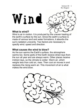 Wind Worksheet By Ms Wagner Teachers Pay Teachers