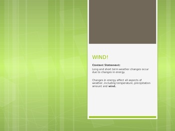 Wind and Anemometer Powerpoint