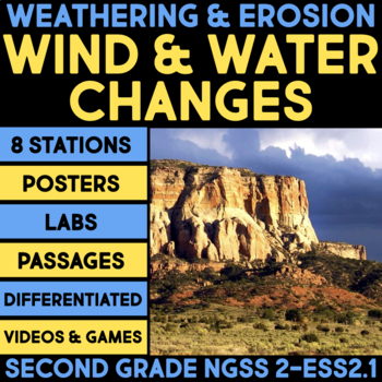 Wind and Water Change the Shape of the Land - Second Grade Science Stations