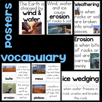 Wind & Water Change the Shape of the Land BUNDLE - Second Grade Science Stations