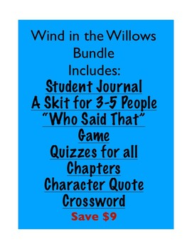 Wind in the Willows Bundle Pack