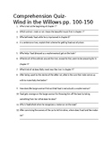 Wind in the Willows Comprehension Quiz ch. 7-10