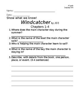 Windcatcher-Avi Chapter Questions (1-4)