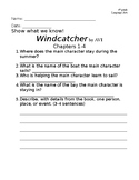 Windcatcher-Avi Chapter Questions (1-4)