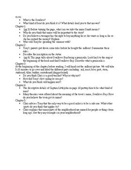 Windcatcher Chapter 1-5 Questions