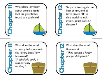 Windcatcher by Avi Comprehension and Vocabulary Task Cards