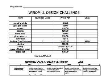Windmill Design Challenge