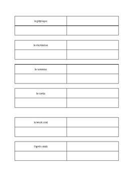 Window Boxes Vocabulary Practice - Bien Dit Chapter 4