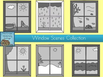 Window Scene Clip Art Collection {Personal & Commercial Use}