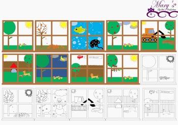 Window Scenes Clip Art