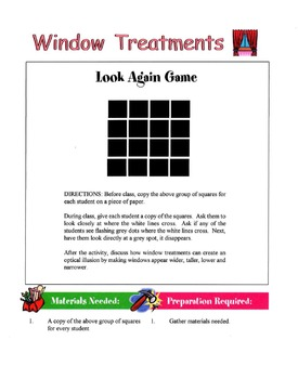 Window Treatments Lesson