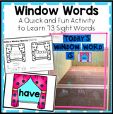 Window Words a Fast and Fun Sight Word Activity