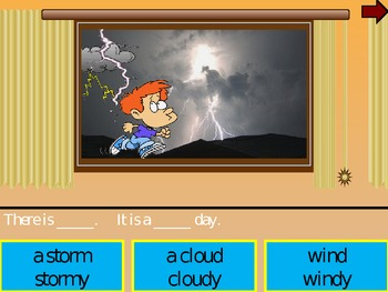 Window peek Weather vocabulary