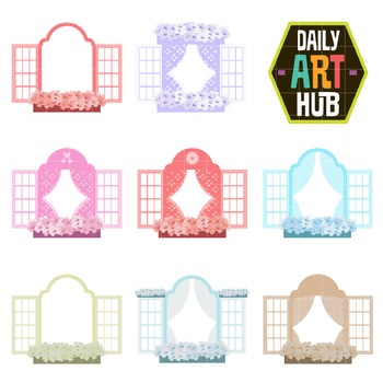 Windows Clip Art - Great for Art Class Projects!