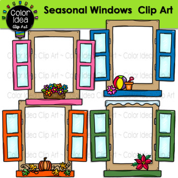 Windows Clip Art (Seasonal and Colored)