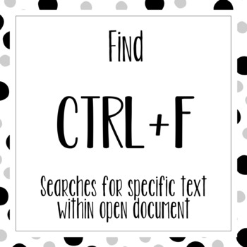 Windows Keyboard Shortcuts - Black & White Dots