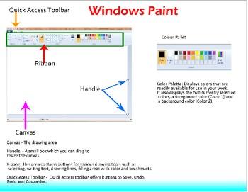 Windows Paint Lesson Plan
