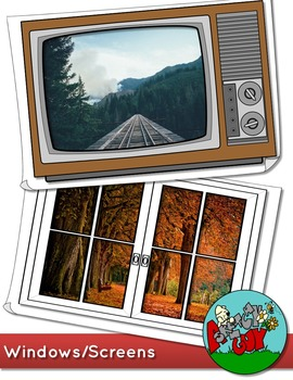 Windows / Screens Border / Frame Clip art