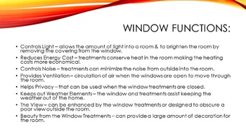 Windows and Window Treatments Power Point