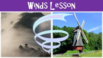 Winds Lesson with Power Point, Worksheet, and Review Page
