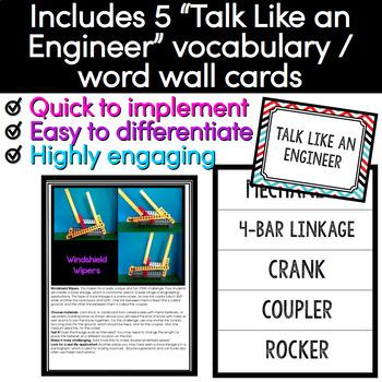 STEM Activity - Windshield Wipers Mechanism Linkage Challenge