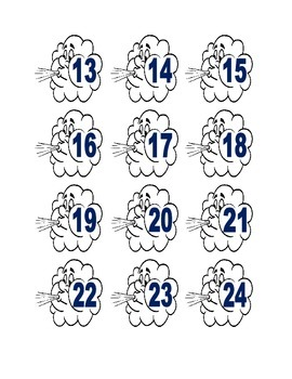 Windy Cloud Numbers for Calendar or Math Activity
