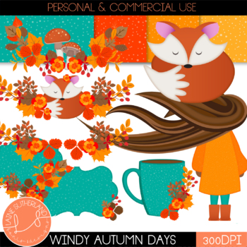 Windy Days Clip Art Set