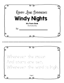 Windy Nights Tracer Booklet