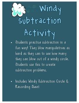 Windy Subtraction Activity